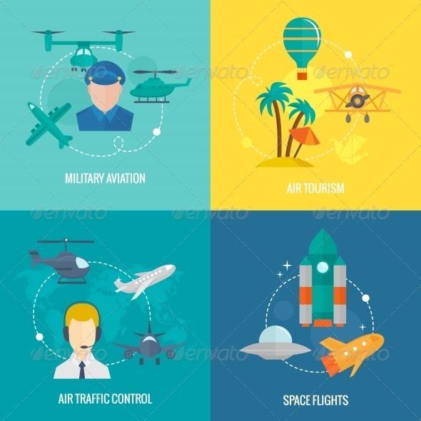 GraphicRiver Aircraft Icons Set 8186564