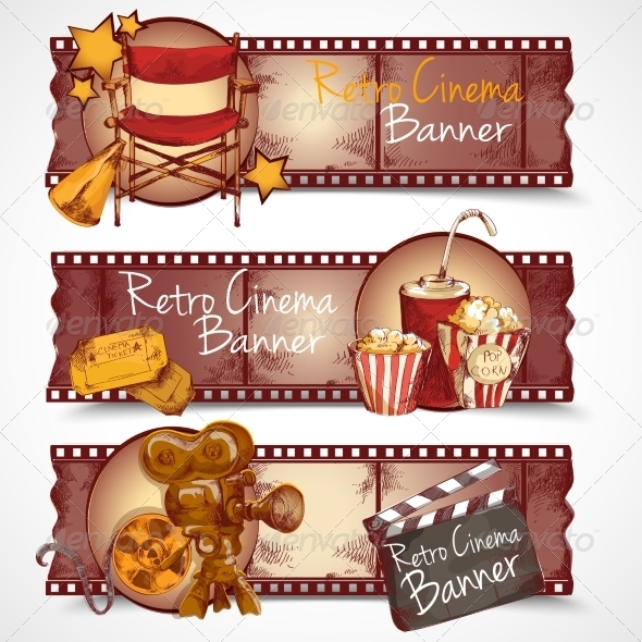 GraphicRiver Retro Cinema Banners 8186655