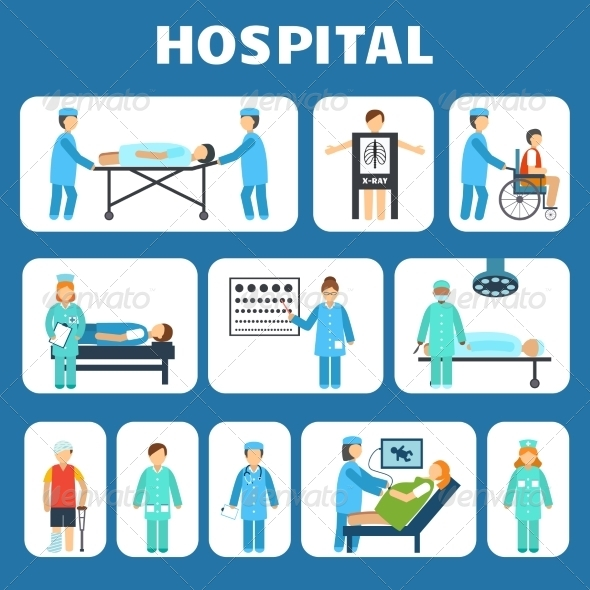 GraphicRiver Medical Flat Pictograms Set 8186674