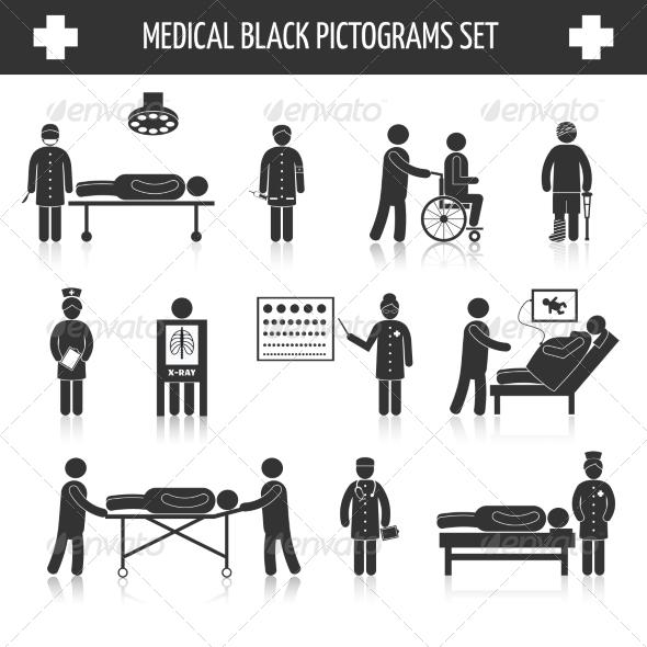GraphicRiver Medical Pictogram Set 8186678