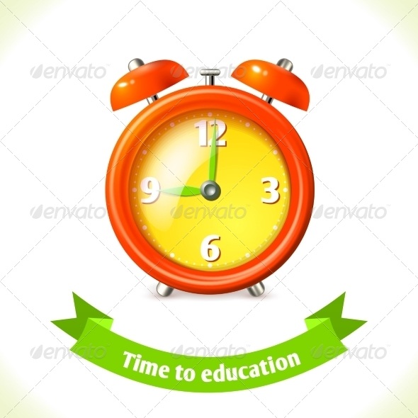 GraphicRiver Education Icon Alarm Clock 8186732