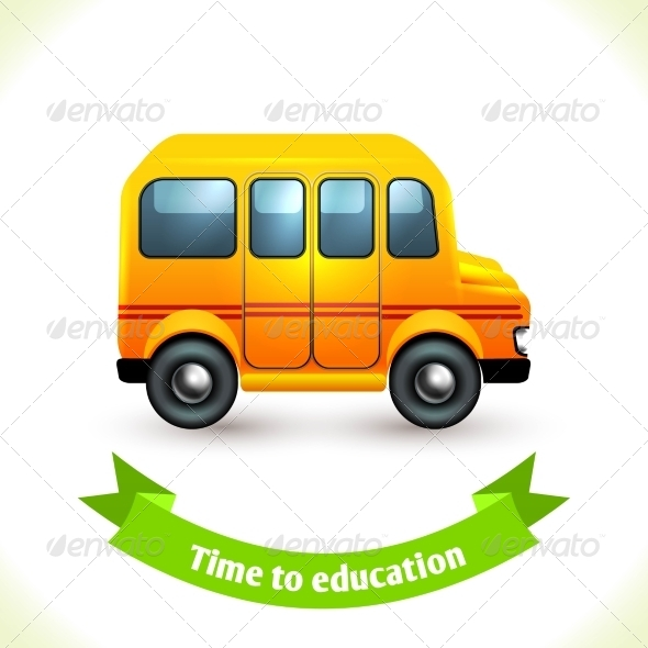 GraphicRiver Education Icon School Bus 8186780