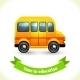 Education Icon School Bus - GraphicRiver Item for Sale