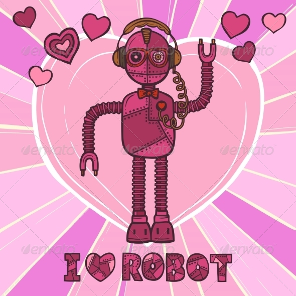 GraphicRiver Hipster Robot Love 8186882