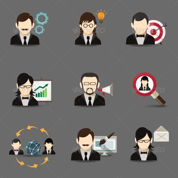 GraphicRiver Business People Icons 8186912