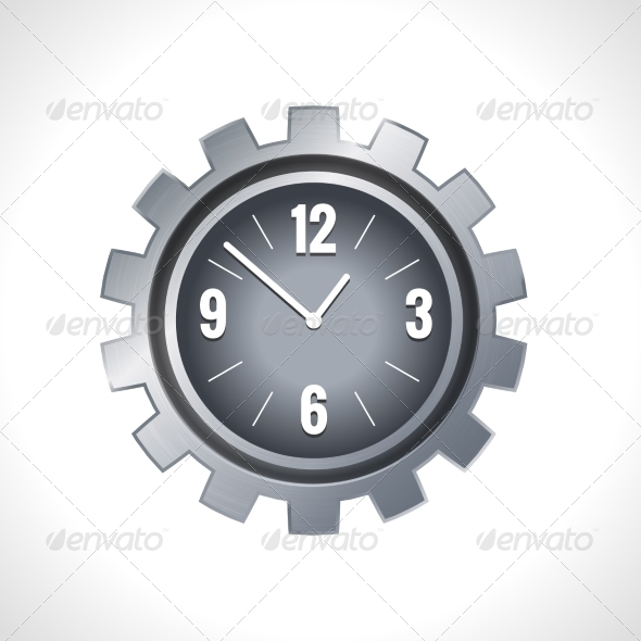 GraphicRiver Metal Gear Clock 8186914
