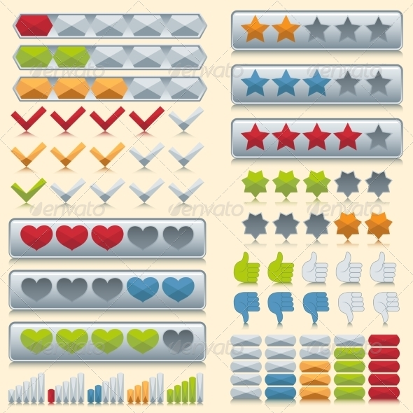 GraphicRiver Rating icons set 8186915