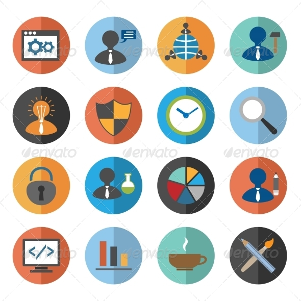 GraphicRiver SEO Icons Set 8186917