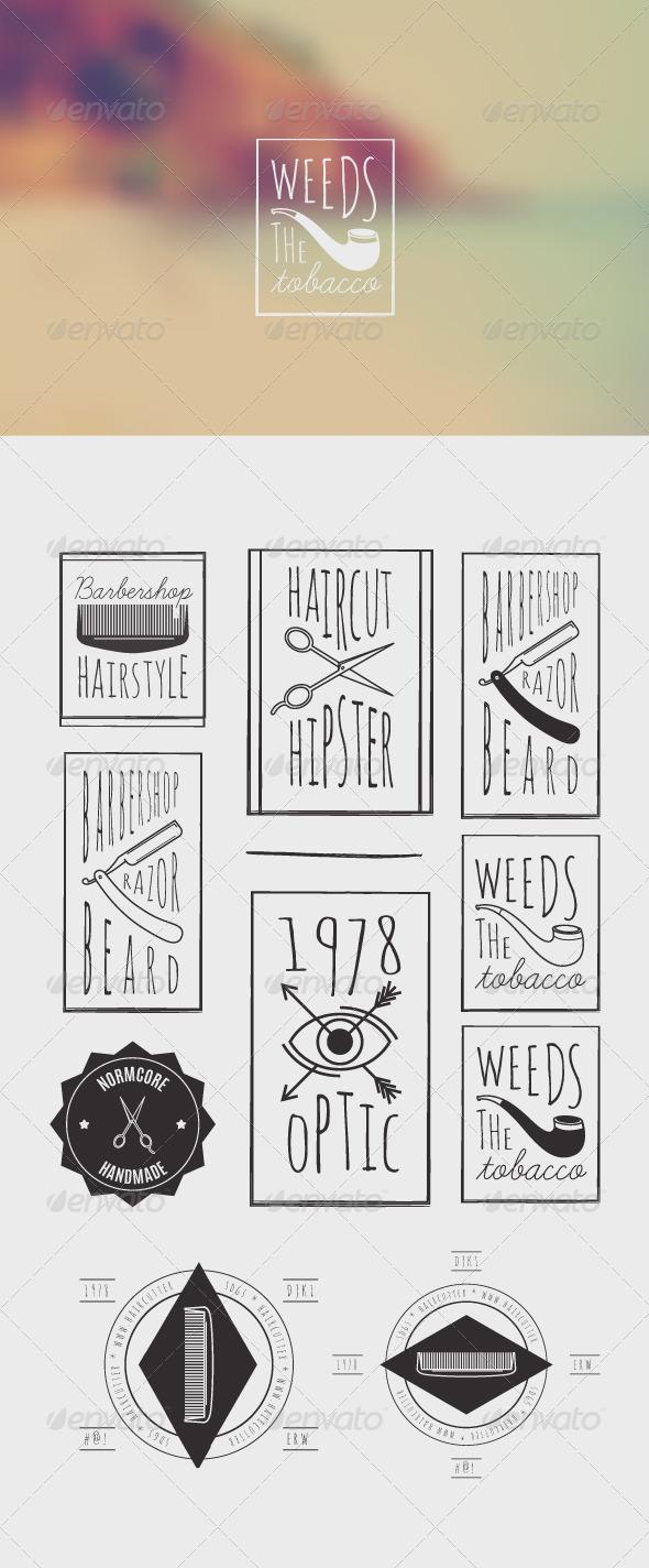 GraphicRiver Trendy Retro Vintage Insignias Bundle 8186974