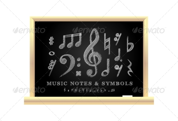 GraphicRiver Handwritten Musical Notes 8187083