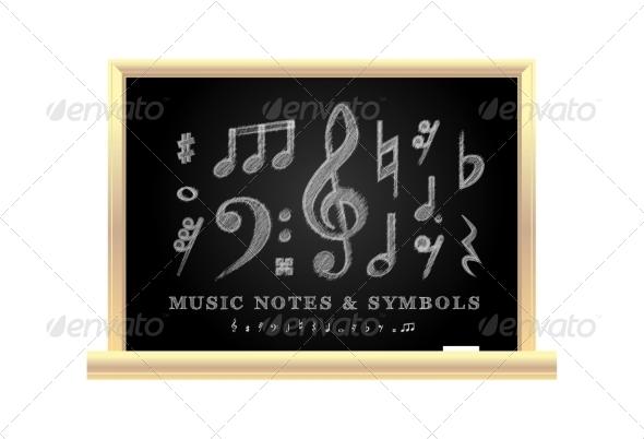 GraphicRiver Handwritten Musical Notes 8187083