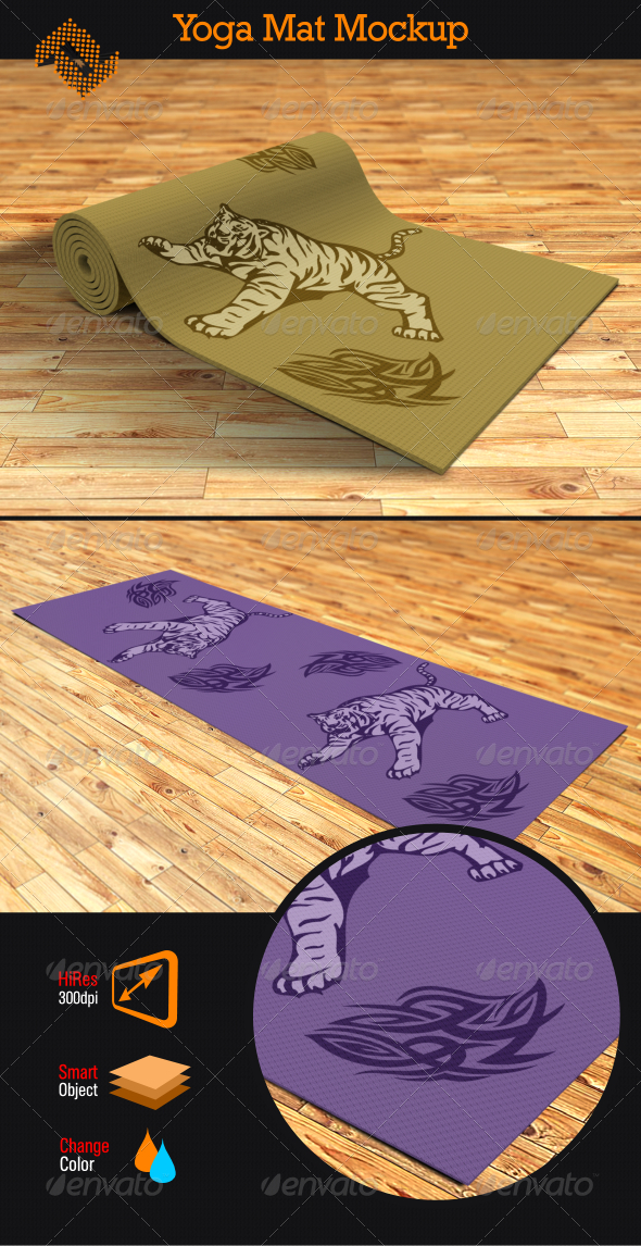 GraphicRiver Yoga Mat Mockup 8187090