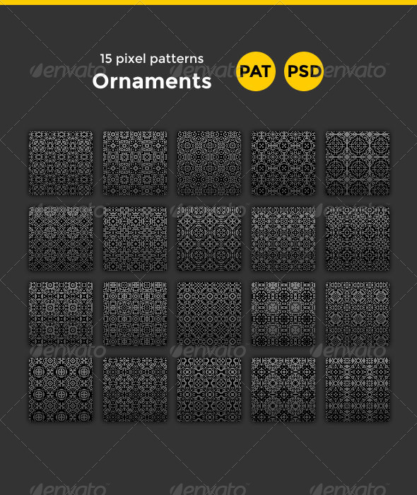 GraphicRiver 15 Ornament Patterns 8187095