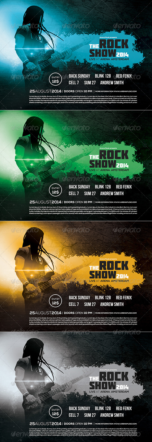 GraphicRiver Rock Flyer Poster Vol 01 8181073