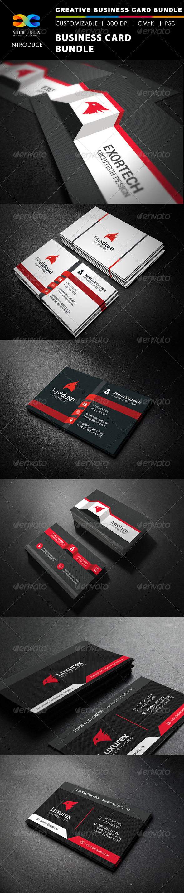 GraphicRiver Business Card Bundle 3 in 1-Vol 37 8187148