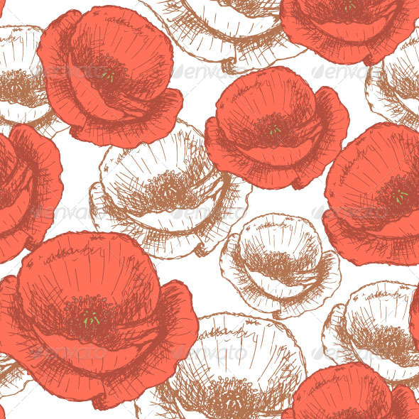 GraphicRiver Poppy Pattern 8187201