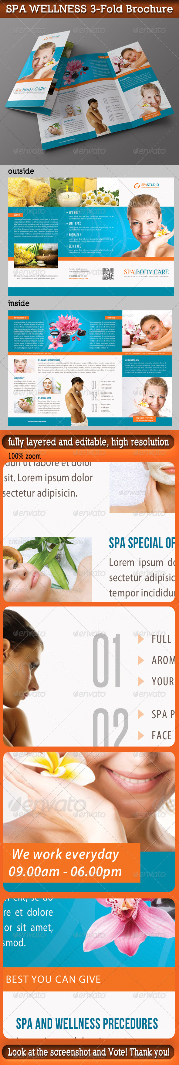 GraphicRiver Spa Wellness 3-Fold Brochure 03 8187471
