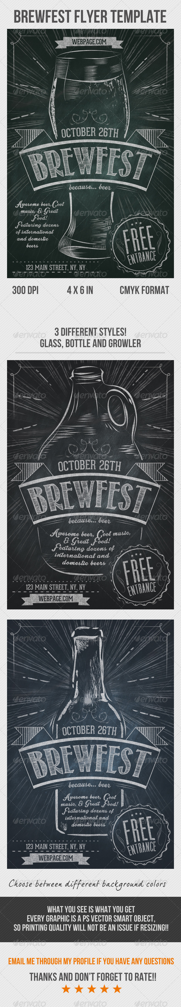 GraphicRiver Brewfest Flyer Template 8187565