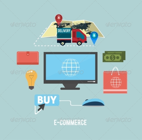 GraphicRiver Ecommerce Concept 8187566