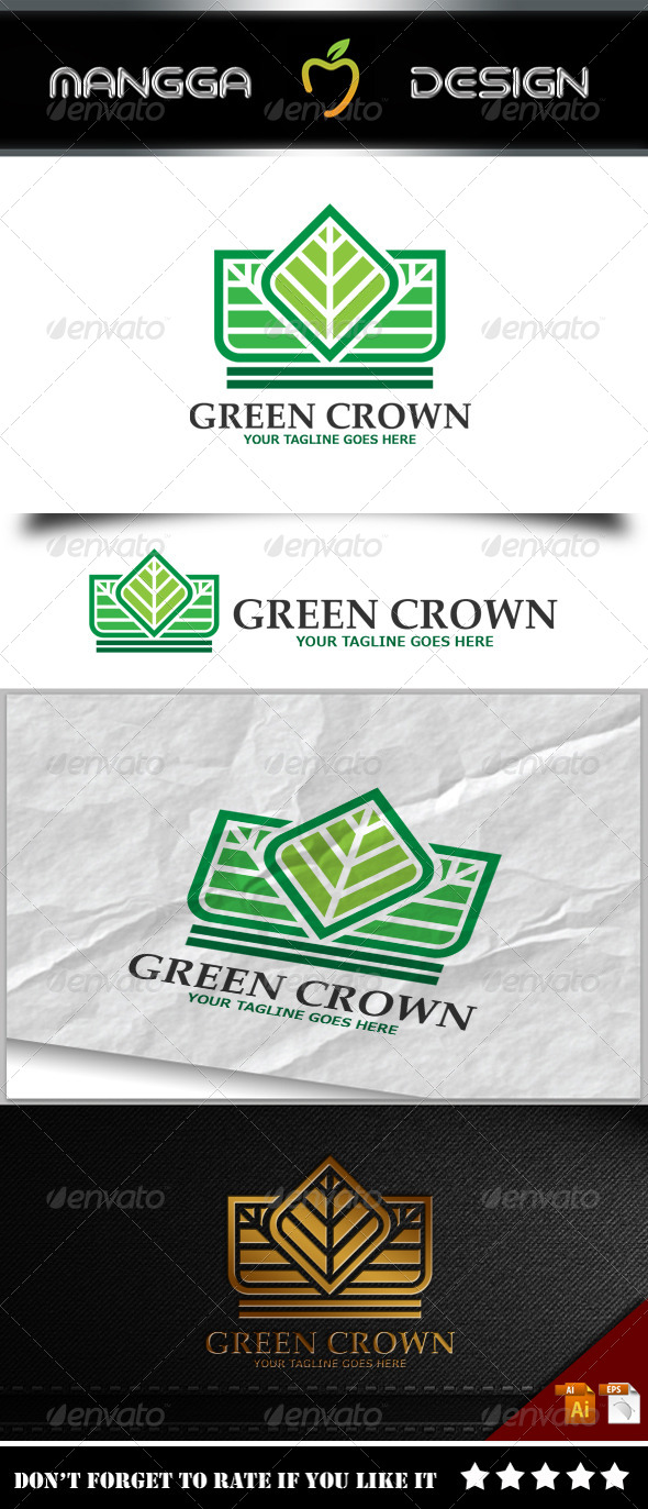 GraphicRiver Green Crown Logo 8187568