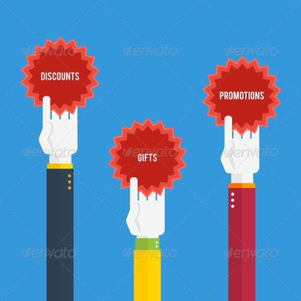 GraphicRiver Hands Holding Stickers with Text 8187575