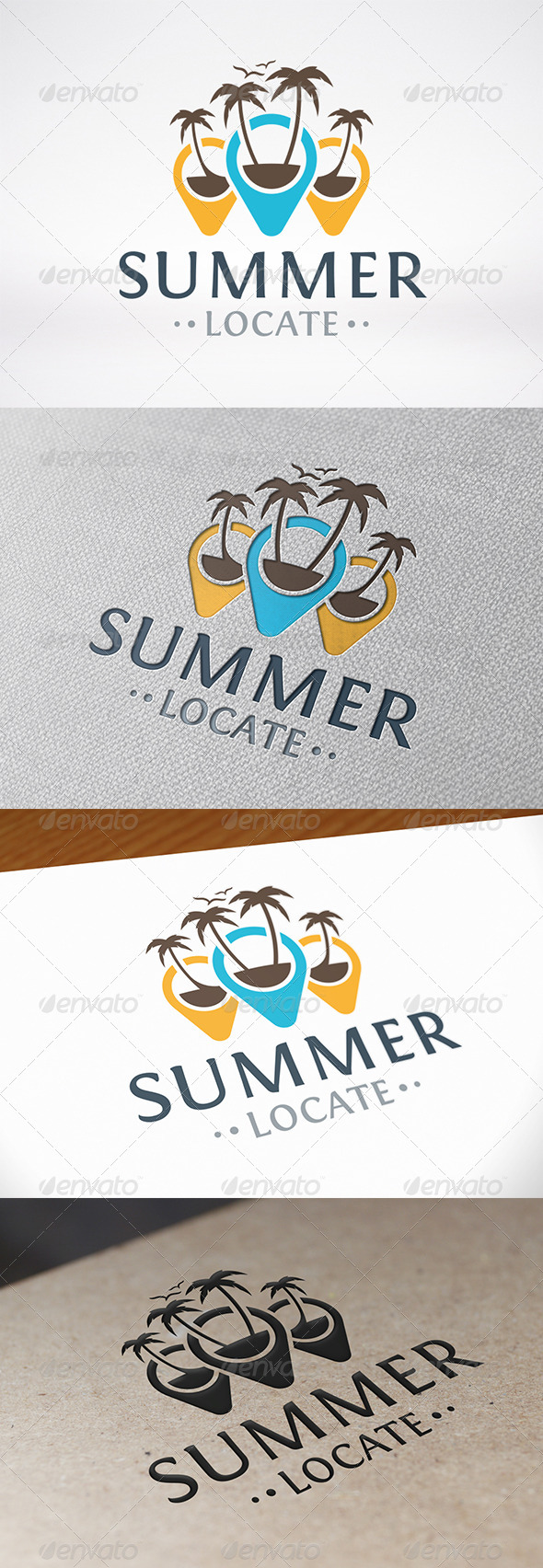 GraphicRiver Beach Locator Logo Template 8187594