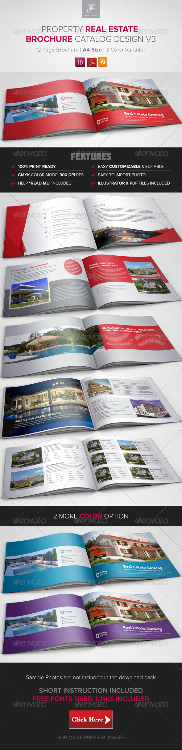 GraphicRiver Property Sale Real Estate Brochure Catalog v3 8187610