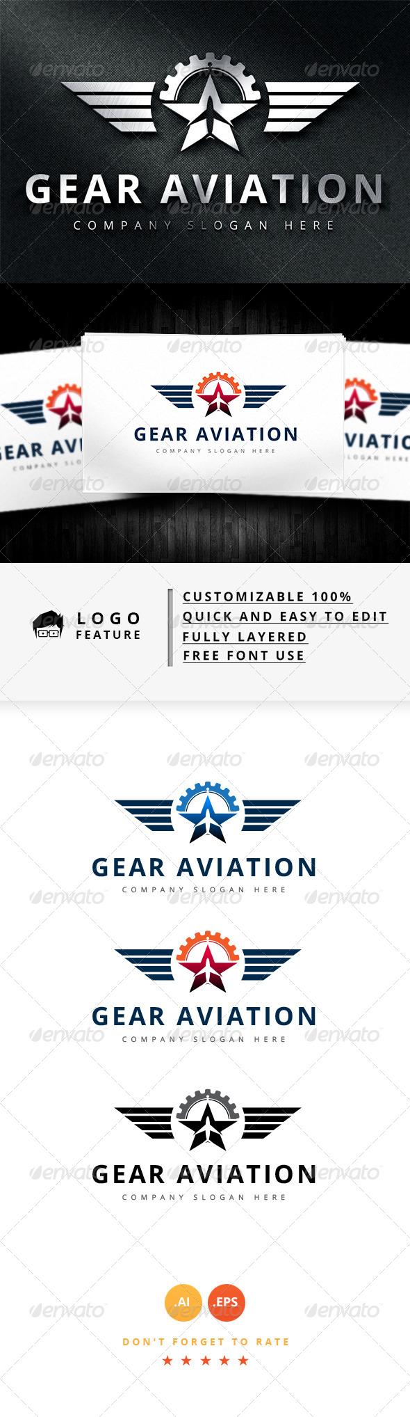 GraphicRiver Gear Aviation Logo 8187714