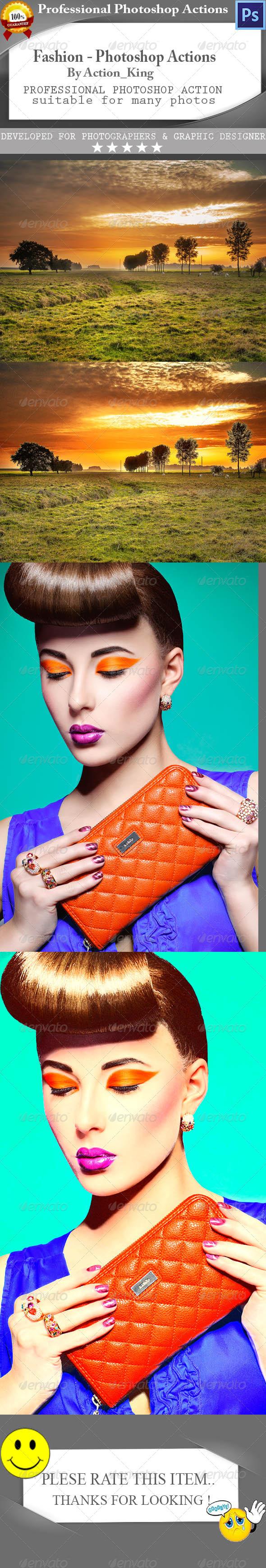 GraphicRiver Fashion Photoshop Actions 8187750