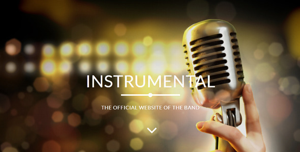 ThemeForest Instrumental Band Events Muse Template 8187830