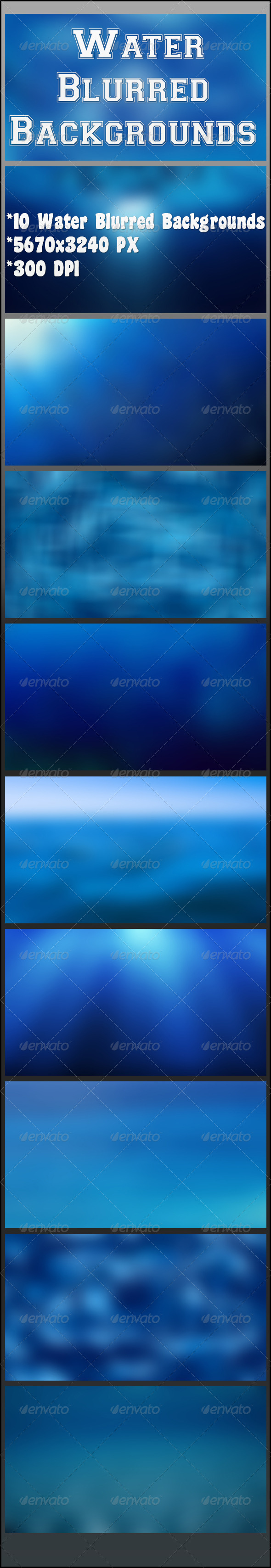 GraphicRiver Water Blurred Backgrounds 8187838