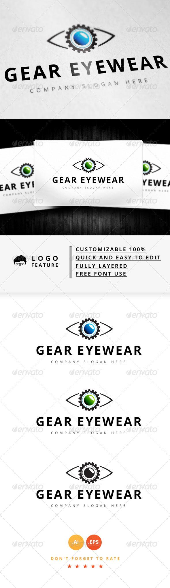 GraphicRiver Gear Eyewear Logo 8187839
