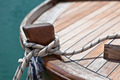 Rope on a wooden boat deck - PhotoDune Item for Sale