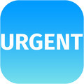 text urgent on blue icon - PhotoDune Item for Sale