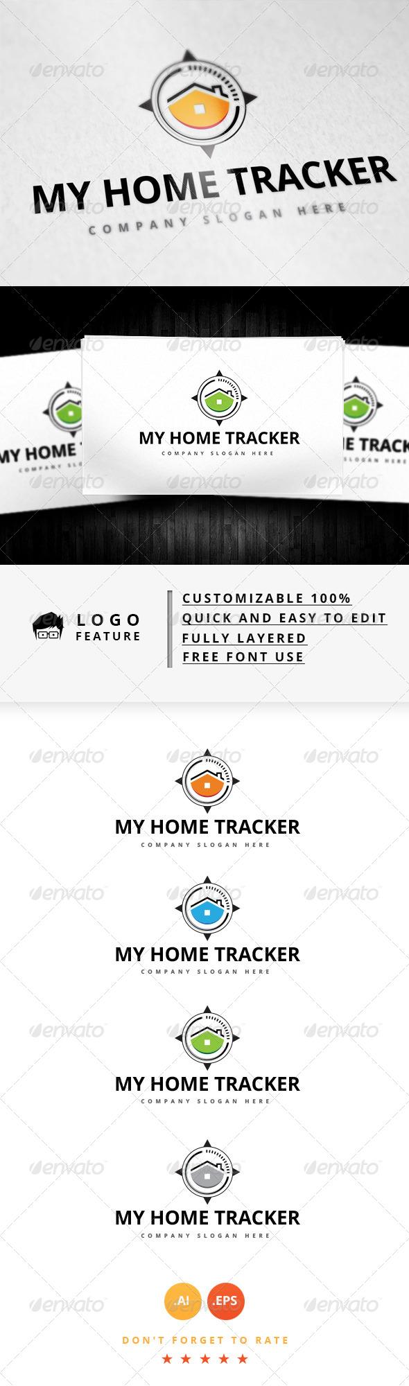 GraphicRiver My Home Tracker Logo 8187936