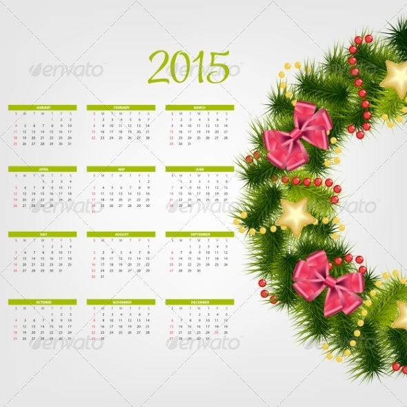 GraphicRiver 2015 New Year Calendar 8188185
