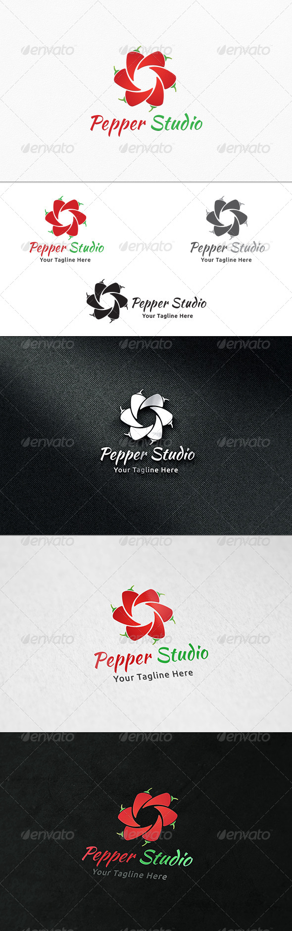 GraphicRiver Pepper Studio Logo Template 8188269