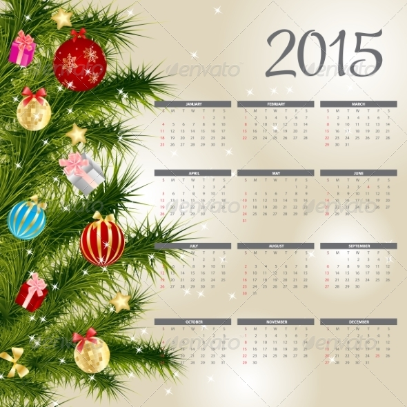 GraphicRiver 2015 New Year Calendar 8188337