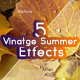 5 Vintage Summer Effects - GraphicRiver Item for Sale