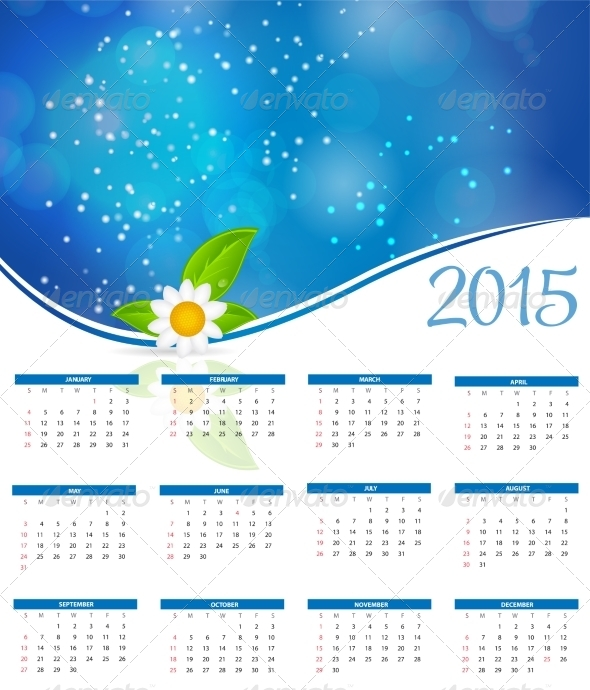 GraphicRiver 2015 New Year Calendar 8188360