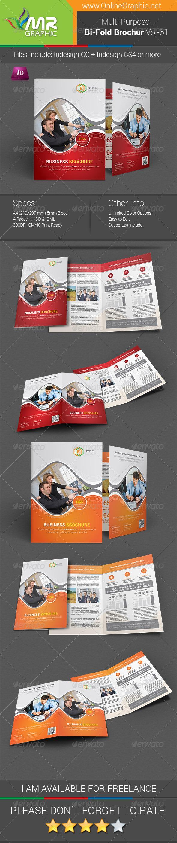 GraphicRiver Multipurpose Bifold Brochure Template Vol-61 8188448