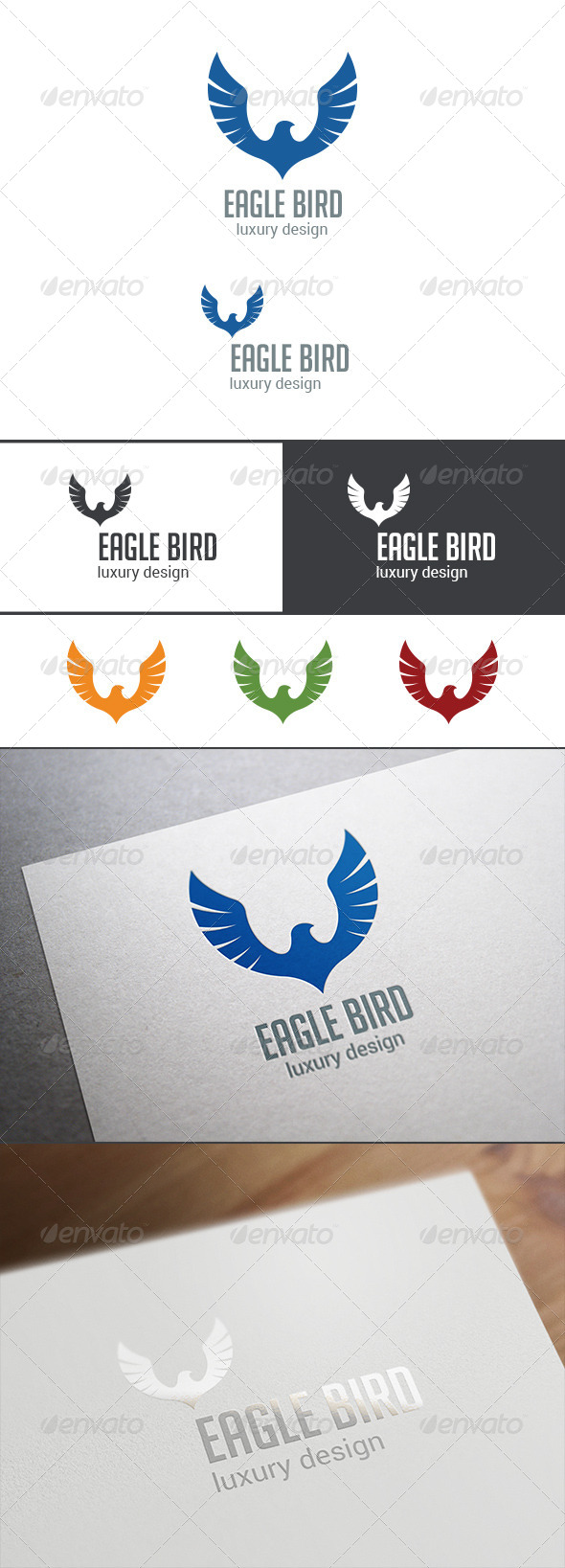 GraphicRiver Luxury Logo Bird Abstract 8188605