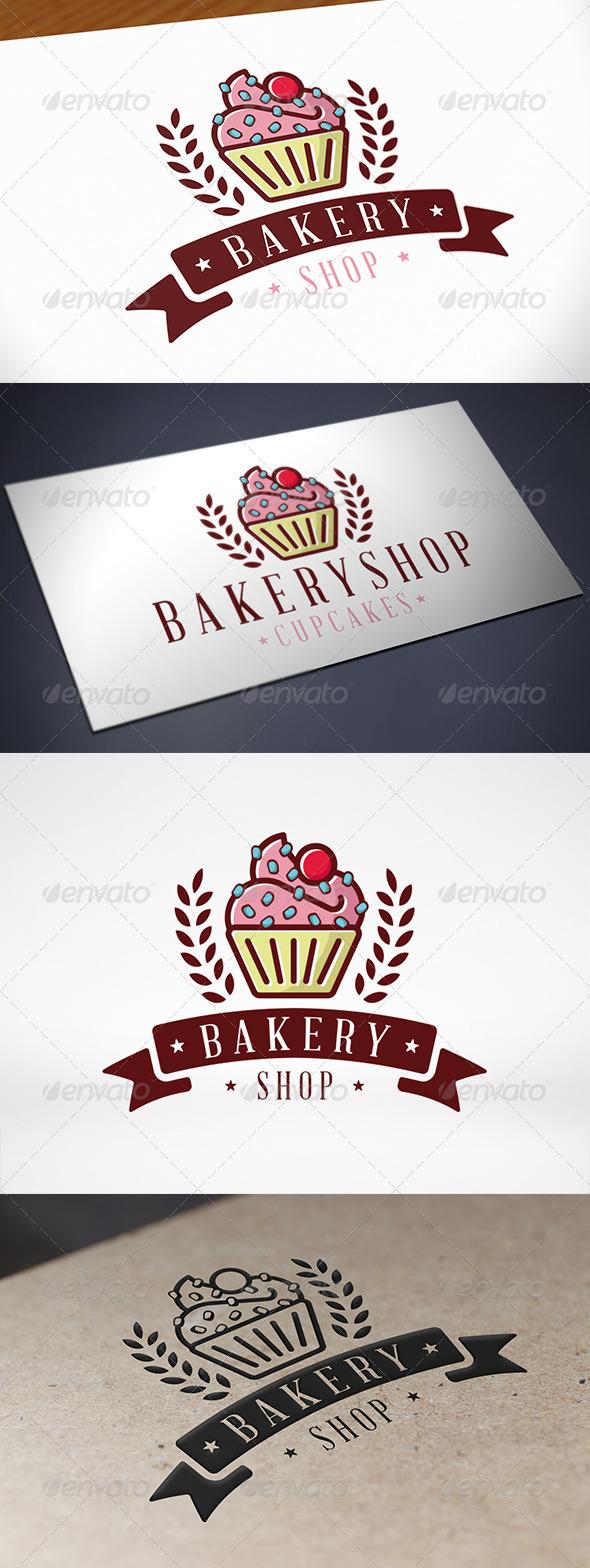 GraphicRiver Cupcake Bakery Logo 8188614
