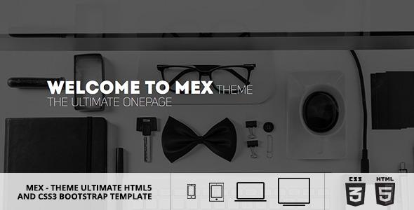 ThemeForest MEX Minimal Multipurpose Theme 8188650