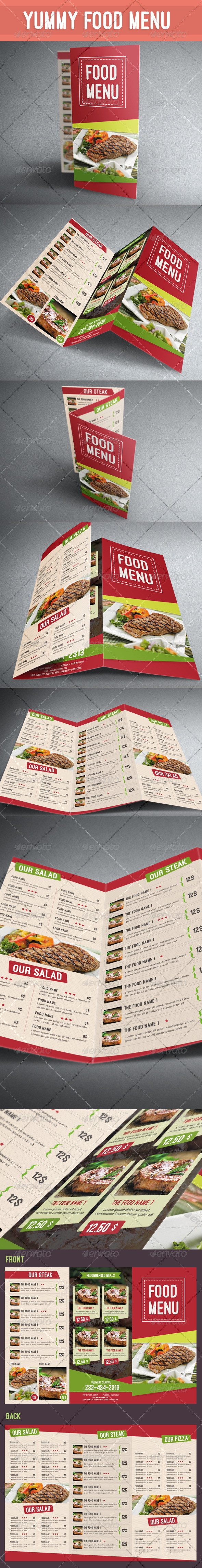 GraphicRiver Yummy Food Menu 8188682