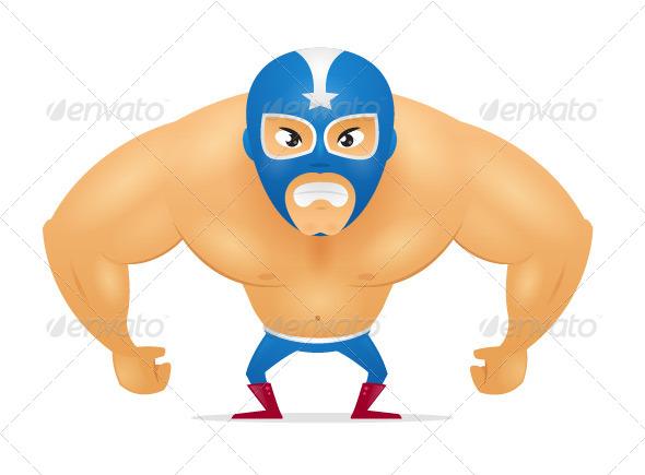 GraphicRiver Masked Wrestler 8188746