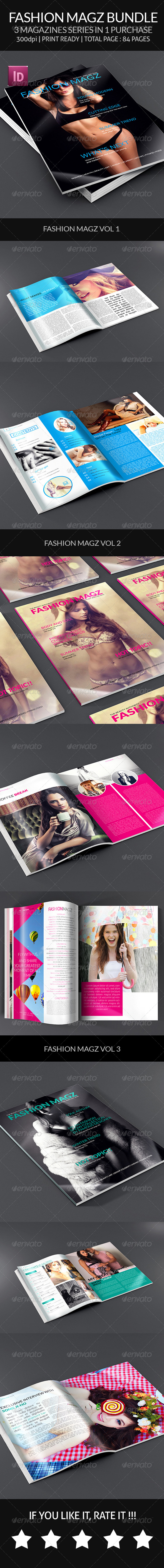 GraphicRiver Fashion Magz Bundle Indesign Magazine 8188832