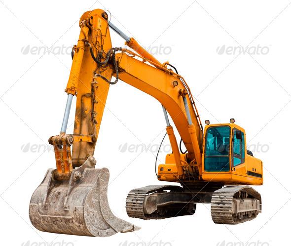 Stock Photo - PhotoDune Yellow Excavator 842088