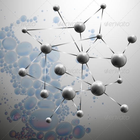 GraphicRiver Molecule Structure Background 8189074