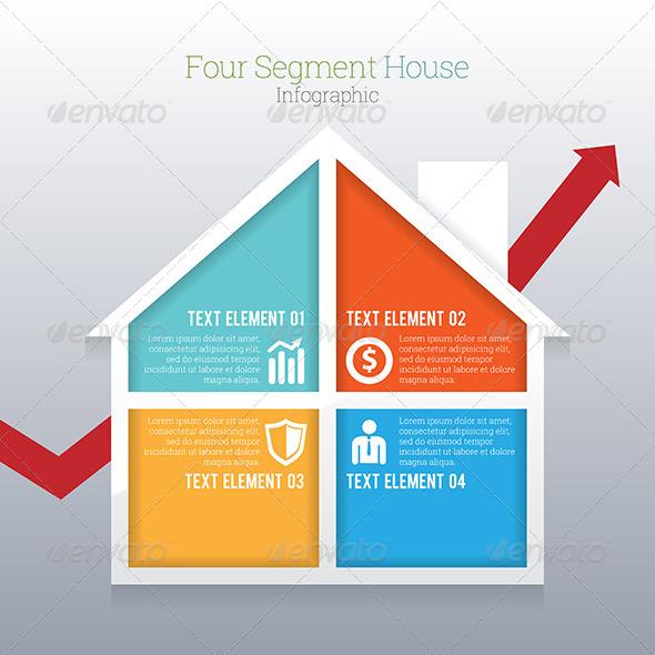 GraphicRiver Four Segment House Infographic 8189095